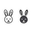 easter rabbit line and glyph icon vector image