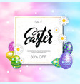 easter sale poster design holiday discounts vector image