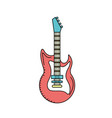 electric guitar musical instrument to play music vector image vector image