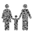 family child mosaic of triangles vector image
