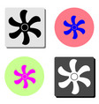 fan flat icon vector image vector image