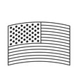 flag united states of america wave in design vector image vector image