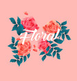 floral roses design pink background image vector image vector image