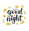 good night modern ink lettering vector image