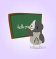 green chalkboard for school cartoon chalkboard vector image
