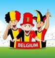 Group of Belgium Sport Fans vector image vector image