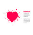 grunge valentines card template vector image vector image