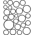 hand-drawn liquid line circle shapes over white vector image vector image
