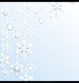 Hang christmas snowflakes background vector image