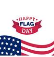 happy flag day design concept vector image