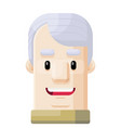 happy grandpa flat icon avatar vector image