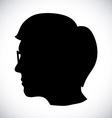 human profile vector image vector image