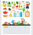 image with assorted products for a healthy vector image vector image