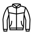 leather bomber jacket or coat line icon vector image