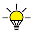 led light bulb lamp vector image