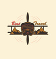 logo best travel vector image vector image