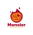 logo monster gradient colorful style vector image