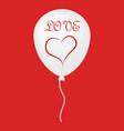 love ballon icon vector image vector image