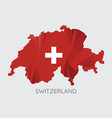 map of switzerland vector image