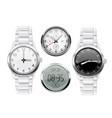 men wrist watch 3d set vector image