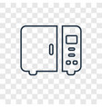 microwave concept linear icon isolated on vector image vector image