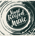 music poster with vinyl record and player vector image