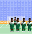 Nigeria Soccer Club Penalty on Stadium vector image vector image