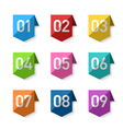 Numbers bookmarks vector image