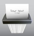 paper shredder illustration vector image vector image