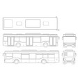 passenger city bus for branding identity and vector image vector image