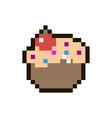 pixel cake vector image vector image
