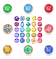 Popular colored gems cuts vector image vector image