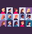 profile portraits avatars female and male woman vector image