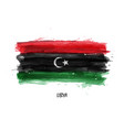 realistic watercolor painting flag of libya vector image vector image