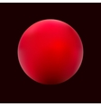 Red ball gradient vector image vector image