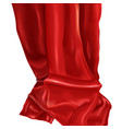 red luxury drapery realistic vector image
