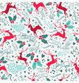 Retro christmas deer decoration seamless pattern vector image vector image
