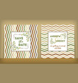 save the date wedding invitation double-sided vector image vector image
