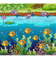 School of fish vector image