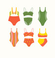 set of lingerie and swimsuits hand drawn big and vector image vector image