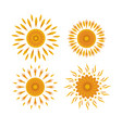 set of suns on a white background vector image vector image