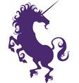 silhouette of a unicorn vector image