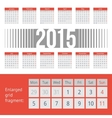 Simple european 2015 year calendar vector image vector image