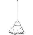 Single broom vector image vector image