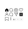social network icon set social media vector image vector image