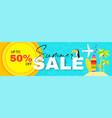 summer sale season sale cute poster template vector image
