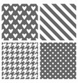 tile pattern set with grey and white polka dots vector image vector image