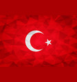 turkey flag polygonal vector image