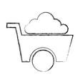 wheel barrow tool isolated icon vector image vector image