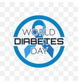 world diabetes day isolated on transparent vector image vector image